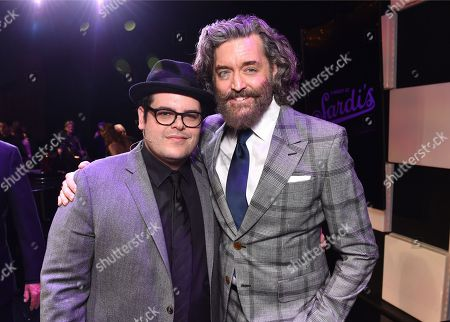 "Josh Gad, left, and Timothy Omundson attend the 23rd annual ""A Night at Sardi's"" to benefit the Alzheimer's Association at the Beverly Hilton Hotel, in Beverly Hills, Calif"