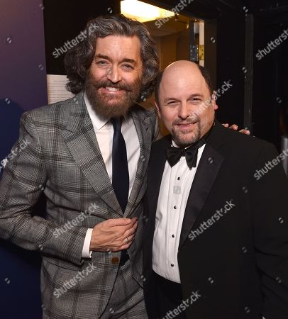 "Timothy Omundson, left, and Jason Alexander attend the 23rd annual ""A Night at Sardi's"" to benefit the Alzheimer's Association at the Beverly Hilton Hotel, in Beverly Hills, Calif"