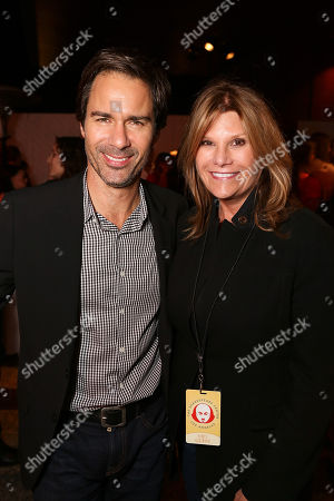 "From left, actor Eric McCormack and Lisa Paulsen, President/CEO, Entertainment Industry Foundation pose at the party for the 23rd Annual ""Simply Shakespeare"" event at The Broad Stage on in Santa Monica, Calif"