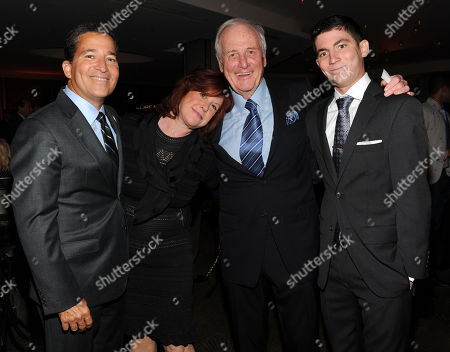 From left, Television Academy Chairman and CEO Bruce Rosenblum, Susan Ekins, Jerry Weintraub and Jon Rosenblum attend the 65th Primetime Emmy Awards Performers Nominee Reception, on at Spectra by Wolfgang Puck at the Pacific Design Center, in West Hollywood, Calif