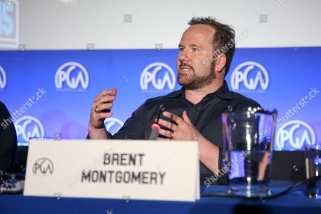 Stock Picture of Brent Montgomery speaks at the 7th Annual Produced By Conference presented by Producers Guild of America at Paramount Pictures Studios on in Los Angeles