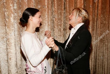 Rooney Mara, left, and Jacqueline West attend the 88th Academy Awards Nominees Luncheon at The Beverly Hilton hotel, in Beverly Hills, Calif