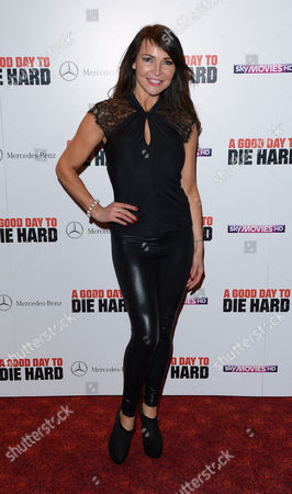Lizzy Cundy arrives at the UK premiere of A Good Day To Die Hard at the Empire Leicester Square, in London
