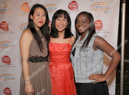 Stock Picture of Susie Suh, Jolie Levine and Cory B attend A Night for Jolie Levine Sponsored by Lupus LA & Sweet Relief Musicians Fund, at Henson Studios on Friday, May, 31, 2013 in Los Angeles