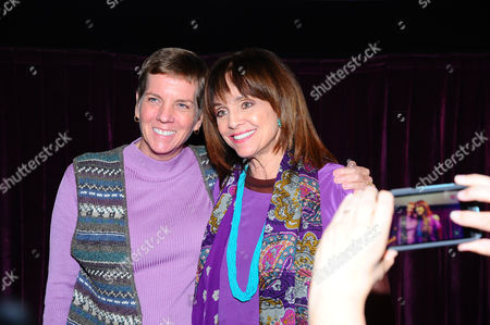 Cindy Abbott, left, and Valerie Harper attend the AARP Movies for Grownups Film Showcase at Regal Cinemas L.A. LIVE on in Los Angeles