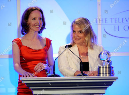 "MAY 5: Creator, Darlene Hunt and Executive Producer, Jenny Bicks accept the award for 'The Big C' ""Taking the Plunge"" onstage at the Academy Of Television Arts & Sciences Presents ""The 4th Annual Television Academy Honors"" at the Beverly Hills Hotel, in Beverly Hills, California"