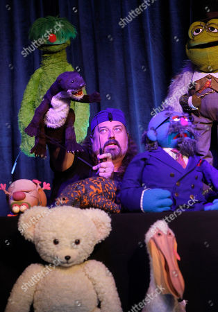 Puppeteer Tyler Bunch, of The Jim Henson Company, gives a presentation at Advertising Week on in New York