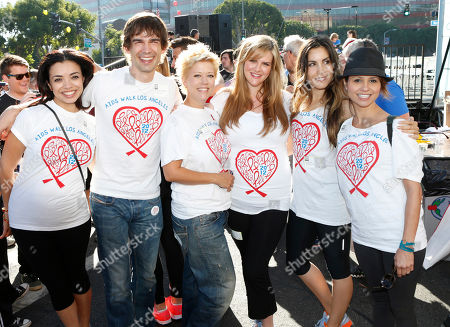 Anel Lopez, Christopher Gorham, Tammy Lynn Michaels, Sara Rue, Carly Pope and Tamara Mello participate in AIDS Walk LA, in Los Angeles