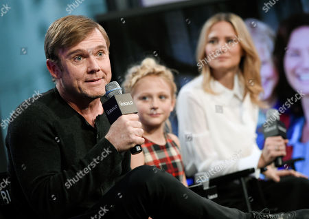 "Actors Ricky Schroder, from left, Alyvia Alyn Lind, and Jennifer Nettles participate in AOL's BUILD Speaker Series to discuss, ""Dolly Parton's Coat of Many Colors"" television movie, at AOL Studios, in New York"