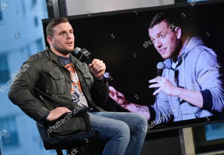 Comedian Chris Distefano participates in AOL's BUILD Speaker Series at AOL Studios, in New York