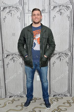 Stock Image of Comedian Chris Distefano participates in AOL's BUILD Speaker Series at AOL Studios, in New York