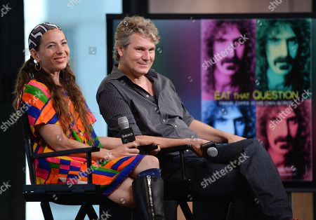 Editorial image of AOL BUILD Speaker Series: Moon Zappa and Thorsten Schutte, New York, USA - 22 Jun 2016