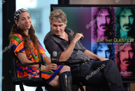 """Moon Zappa and filmmaker Thorsten Schutte participate in AOL's BUILD Speaker Series to discuss the documentary film, """"Eat That Question: Frank Zappa In His Own Words"""", at AOL Studios, in New York"""