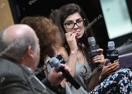 """Former amateur porn actress Rachel Bernard participates in AOL's BUILD Speaker Series to discuss the new film """"Hot Girls Wanted"""" at AOL Studios, in New York"""