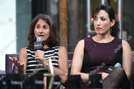 "Directors Jill Bauer, left, and Ronna Gradus participate in AOL's BUILD Speaker Series to discuss their film ""Hot Girls Wanted"" at AOL Studios, in New York"
