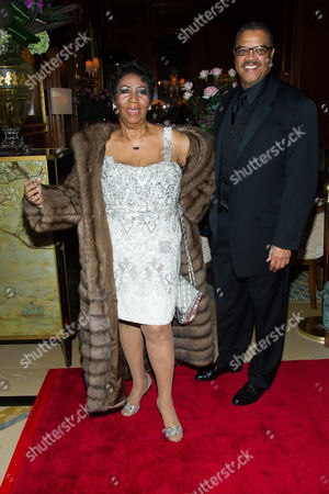 Aretha Franklin and Willie Wilkerson attend Aretha's annual birthday bash at The Ritz Carlton, in New York