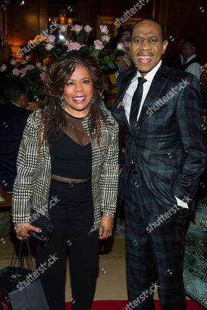 Valerie Simpson and Freddie Jackson attend Aretha Franklin's annual birthday bash at The Ritz Carlton, in New York