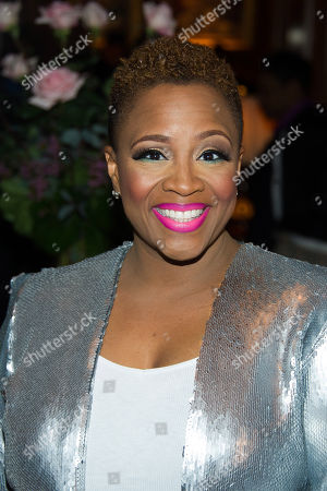 Avery Sunshine attends Aretha Franklin's annual birthday bash at The Ritz Carlton, in New York