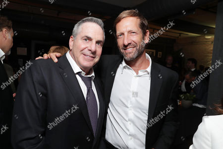 """Producer Roger Birnbaum and Anchorage Capital Group's Kevin Ulrich attend the Audi and Worldclass 2016 hosted after party for MGM and Columbia Pictures' world premiere and opening night screening of """"The Magnificent Seven"""" at the Toronto International Film Festival, in Toronto, CAN"""