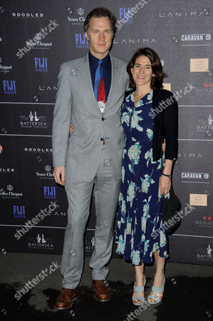 David Morrissey and Esther Freud arrive for the Battersea Power Station Annual Party at a central London venue
