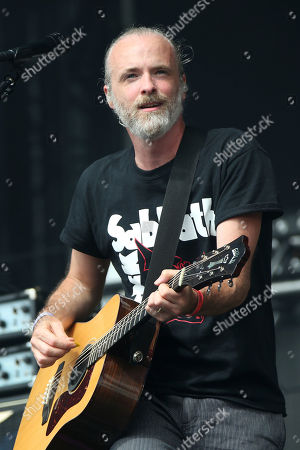 Fran Healy of British band Travis performs on the Virgin Media Stage as part of the V Festival at Hylands Parks, Chelmsford, England