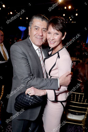 Haim Saban and Cheryl Saban seen at Cedars-Sinai Board of Governors honoring Adele and Beny Alagem and Sylvester Stallone at 2016 Annual Gala at Beverly Hilton Hotel, in Beverly Hills