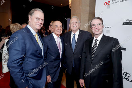 Richard Hilton, Robert Shapiro, Robert Barth, Cedars-Sinai Gala Co-Chair, and Beny Alagem seen at Cedars-Sinai Board of Governors honoring Adele and Beny Alagem and Sylvester Stallone at 2016 Annual Gala at Beverly Hilton Hotel, in Beverly Hills