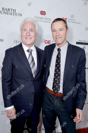 Paul Guerin, Cedars-Sinai Gala Co-Chair, and Dr. Clive Svendsen, Director of Cedars-Sinai Regenerative Medicine Institute, seen at Cedars-Sinai Board of Governors honoring Adele and Beny Alagem and Sylvester Stallone at 2016 Annual Gala at Beverly Hilton Hotel, in Beverly Hills