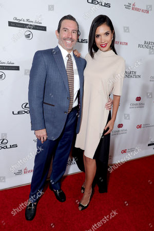 Jeff Bernstein and Arica Angelo seen at Cedars-Sinai Board of Governors honoring Adele and Beny Alagem and Sylvester Stallone at 2016 Annual Gala at Beverly Hilton Hotel, in Beverly Hills
