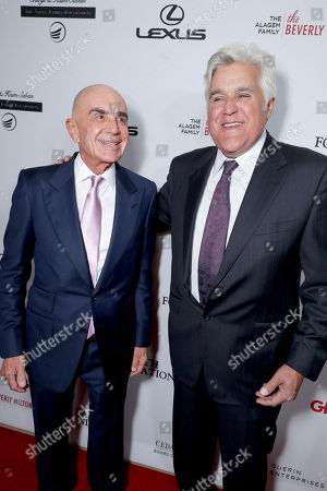 Robert Shapiro and Jay Leno seen at Cedars-Sinai Board of Governors honoring Adele and Beny Alagem and Sylvester Stallone at 2016 Annual Gala at Beverly Hilton Hotel, in Beverly Hills