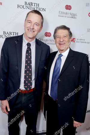 Dr. Clive Svendsen, Director of Cedars-Sinai Regenerative Medicine Institute, and Dr. Shlomo Melmed, Cedars-Sinai Senior VP of Academic Affairs and Dean of Medical Faculty, seen at Cedars-Sinai Board of Governors honoring Adele and Beny Alagem and Sylvester Stallone at 2016 Annual Gala at Beverly Hilton Hotel, in Beverly Hills