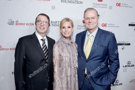 Beny Alagem, Adele Alagem and Richard Hilton seen at Cedars-Sinai Board of Governors honoring Adele and Beny Alagem and Sylvester Stallone at 2016 Annual Gala at Beverly Hilton Hotel, in Beverly Hills