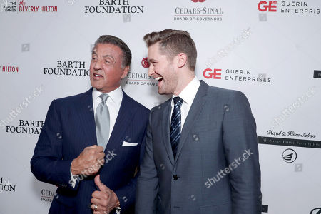 Sylvester Stallone and Matthew Morrison seen at Cedars-Sinai Board of Governors honoring Adele and Beny Alagem and Sylvester Stallone at 2016 Annual Gala at Beverly Hilton Hotel, in Beverly Hills