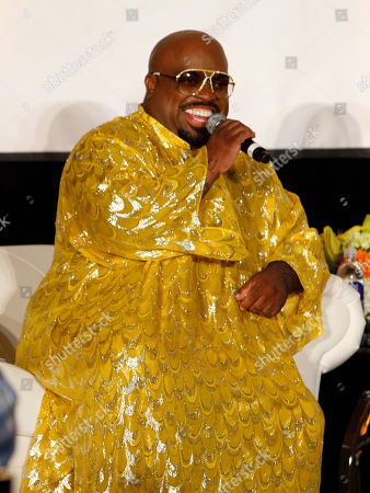 """Stock Image of Singer/Songwriter and Rapper Cee Lo Green interviewed legendary artist Little Richard as part of the Recording Academy Atlanta Chapter's """"The Legacy Lounge"""" at the W Hotel on Sunday 29, 2013, in Atlanta, Ga. """"The Legacy Lounge"""" pairs contemporary artists with their musical idols and inspirations in an exclusive question and answer session in a room of music industry veterans"""