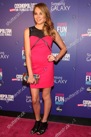 "Stock Photo of Kate Jenkinson attends the Cosmopolitan Hosts ""Super Fun Night"" Premiere at the Joseph Urban Theater at Hearst Tower on in New York"