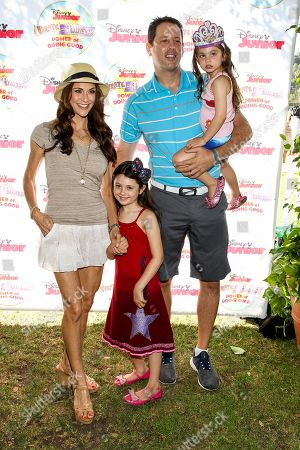"Stock Photo of Samantha Harris, Michael Hess and children Josselyn Sydney Hess, Hillary Madison Hess attend the Disney Junior's ""Pirate And Princess: Power Of Doing Good"" Tour event at Brookside Park, in Pasadena, Calif"