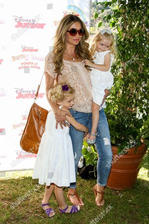 "Stock Image of Rebecca Gayheart with daughters Billie Beatrice Dane and Georgia Dane attend the Disney Junior's ""Pirate And Princess: Power Of Doing Good"" Tour event at Brookside Park, in Pasadena, Calif"