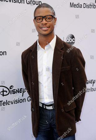 Arjay Smith arrives at the Disney Media Networks International Upfronts at the Walt Disney Studios Lot on in Burbank, Calif