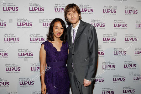 """Honorees, Co-creators executive and producers of Marvel's Agents of S.H.I.E.L.D. Maurissa Tancharoen Whedon, and Jed Whedon seen at the Lupus Foundation of America's """"Evening of Hope"""" Gala, on in New York"""