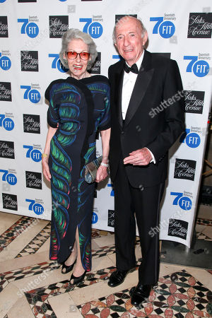 Barbara Tober, left, and Donald Tober, right, attend the Fashion Institute of Technology's Annual Gala at Cipriani 42nd Street, in New York