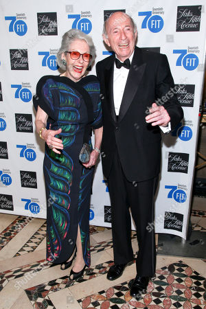 Stock Image of Barbara Tober, left, and Donald Tober, right, attend the Fashion Institute of Technology's Annual Gala at Cipriani 42nd Street, in New York