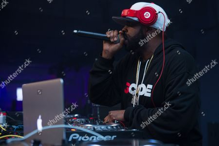 Funkmaster Flex performs in concert at Pier 36, in New York