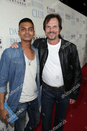 Madhur Mittal and Bill Paxton seen at Focus Features' Dallas Buyers Club Premiere, on Thursday, Oct., 17, 2013 in Los Angeles