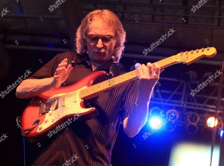 Blues musician Sonny Landreth performs on Framptonâ?™s Guitar Circus 2013 Tour at Pier Six Pavilion, in Baltimore