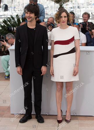 Actors Ben Whishaw and Angeliki Papoulia pose for photographers during a photo call for the film The Lobster, at the 68th international film festival, Cannes, southern France
