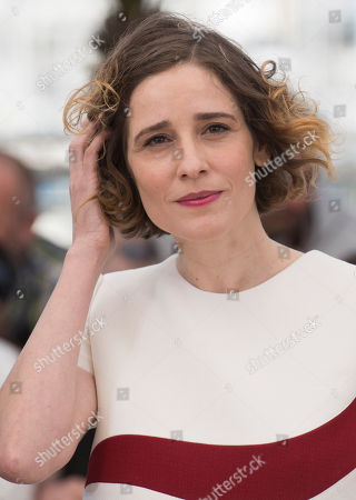 Actress Angeliki Papoulia poses for photographers during a photo call for the film The Lobster, at the 68th international film festival, Cannes, southern France