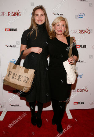 """Lauren Bush Lauren, left, and Sharon Bush, right, attend a screening of """"Girls Rising"""", at the Paris Theater in New York"""