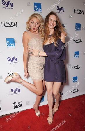 Stock Image of Madison Dylan and Catherine Annette attend the Entertainment One â?oeHavenâ?? Party at Comic Con on in San Diego