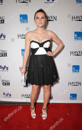 Emily Rose attends the Entertainment One Haven Party at Comic Con on in San Diego