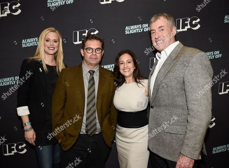 Janet Varney, from left, Dana Gould, Jennifer Caserta, IFC president, and John C. McGinley attend the 2016 TCA Panels at the Beverly Hilton Hotel, in Beverly Hills, Calif